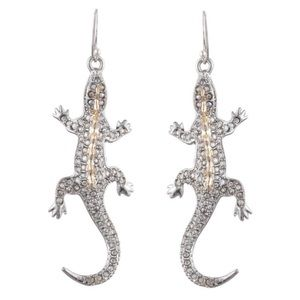 Alexis Bittar Crystal Encrusted Lizard Earrings